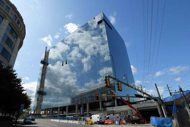 Charter Communications plan to start its move in 2021 to this new 500,000-square-foot building at 406 Washington Blvd., next to the downtown Metro-North Railroad station in Stamford, Conn.