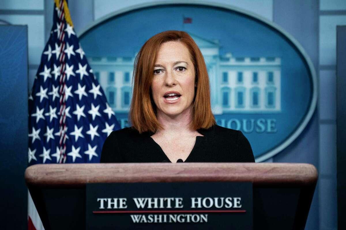White House press secretary Jen Psaki participates in a briefing at the White House on Feb 1, 2021, in Washington.