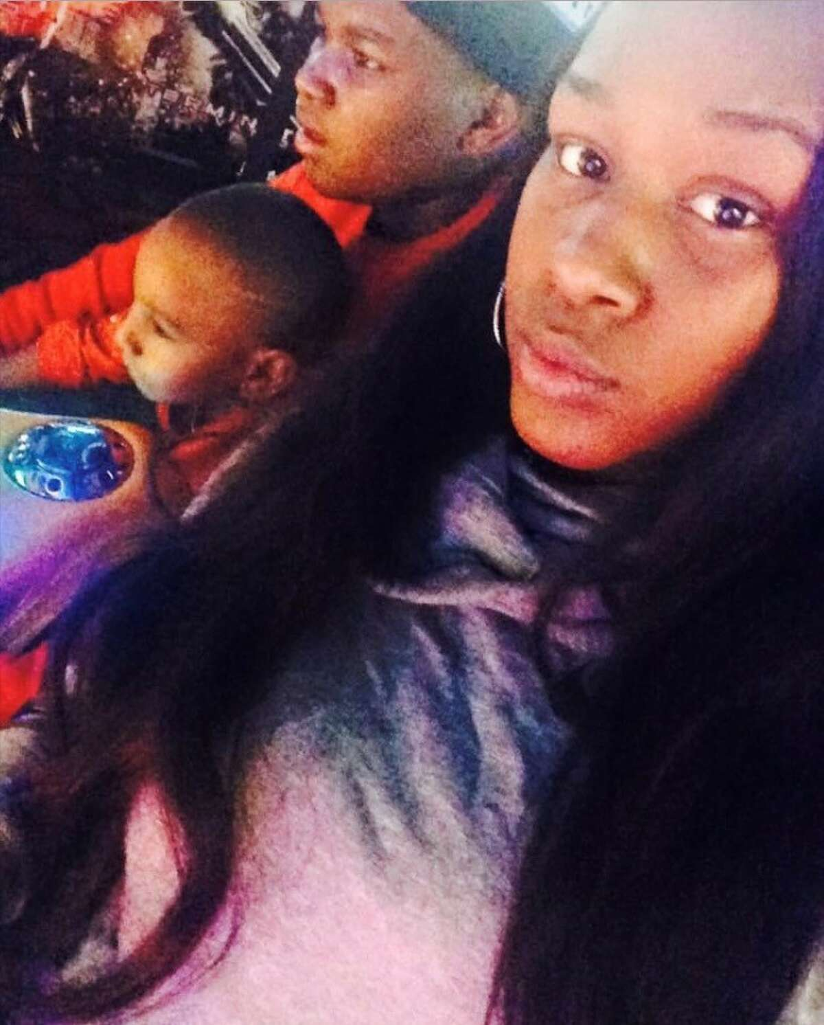Shanita Thomas with her two children, Elijah, Jr. and Damoni. Thomas, who was pregnant with her third child, was killed in a shooting at a party in Albany Jan. 30, 2021.
