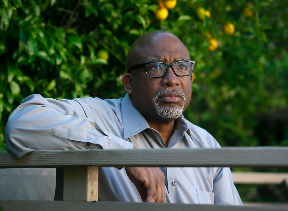Vince Matthews, San Francisco schools superintendent, works on a plan to reopen schools in the fall from his home in Hercules, Calif. on Thursday, April 30, 2020.