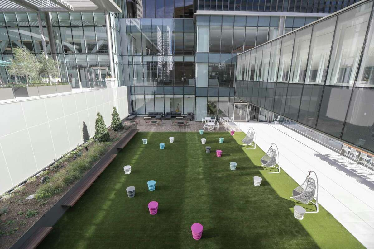 An outdoor area at Houston Center, downtown's largest office complex, which has just completed an extensive renovation. Photographed Thursday, Jan. 28, 2021, in Houston.