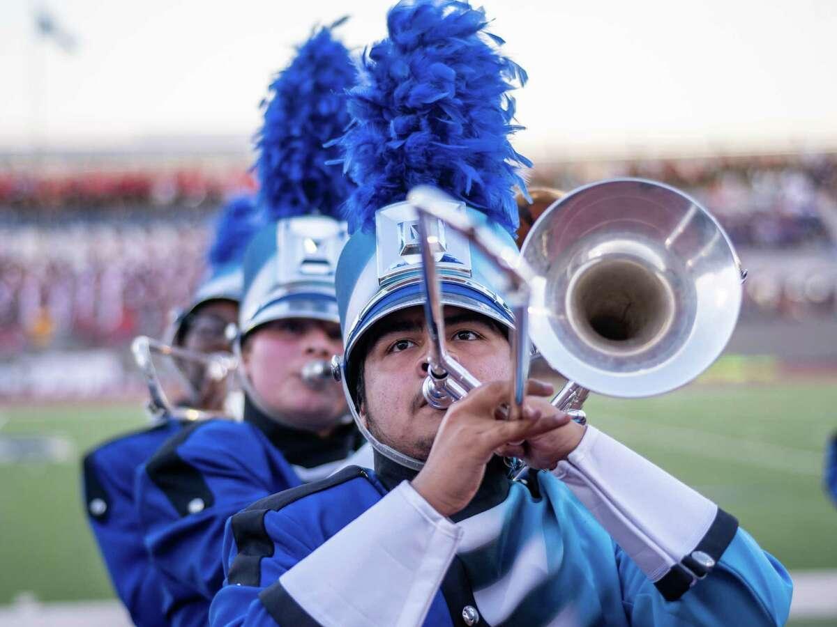 South San Antonio High School band performs,