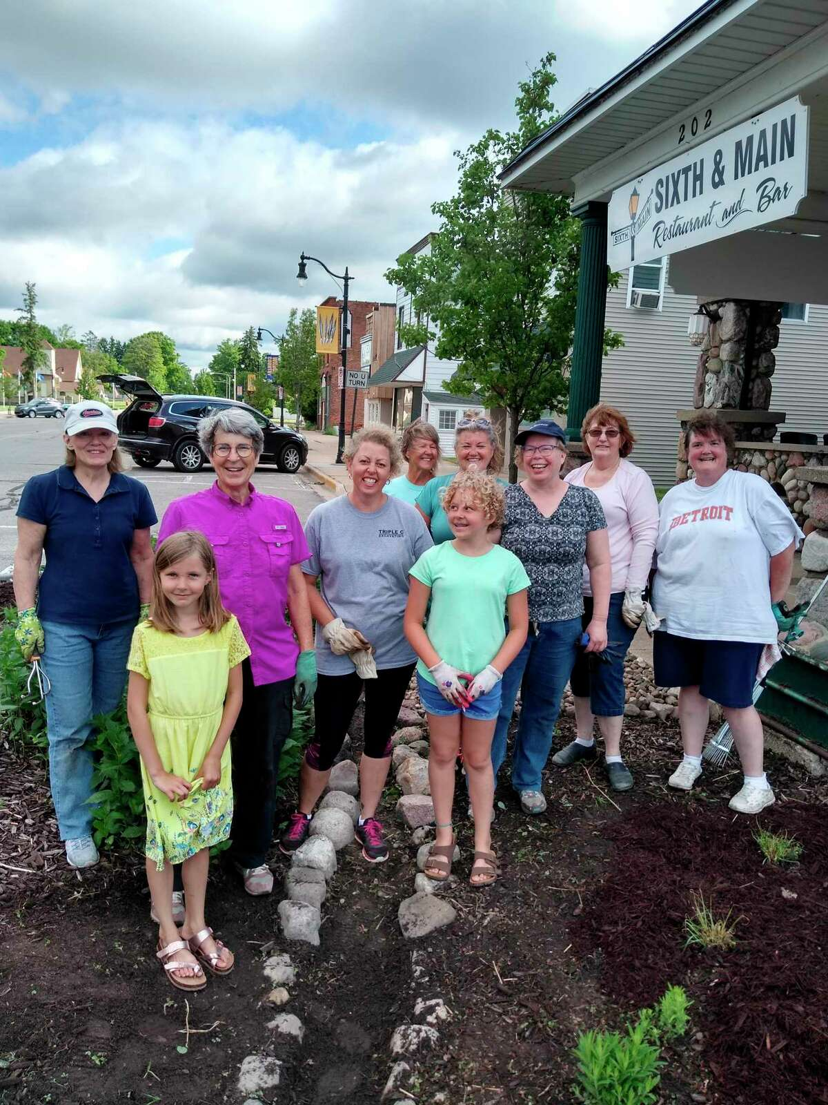 The Evart Garden Club, along with other local volunteers, cleaned and replanted the bump-out flower beds in downtown Evart this past spring. The work will continue this coming spring as more plants are added. (Submitted photo)