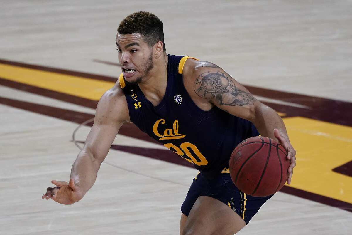 California guard Matt Bradley (20) during the first half of an NCAA college basketball game against Arizona State, Thursday, Jan. 28, 2021, in Tempe, Ariz. (AP Photo/Rick Scuteri)