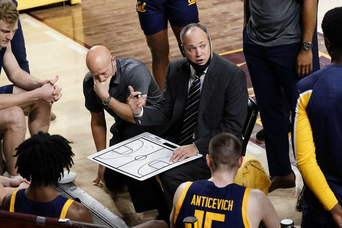 California head coach Mark Fox during the first half of an NCAA college basketball game against Arizona State, Thursday, Jan. 28, 2021, in Tempe, Ariz. (AP Photo/Rick Scuteri)