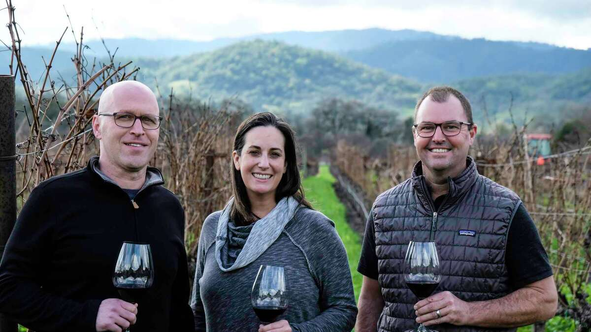 C. Elizabeth owners Christi and Dave Ficeli and winemaker Bill Nancarrow