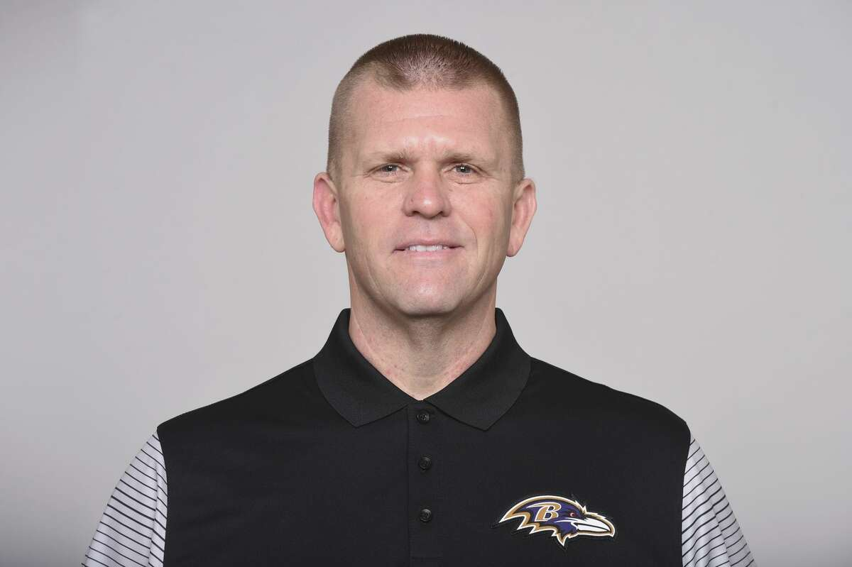 This is a photo of Andy Bischoff of the Baltimore Ravens NFL football team. This image reflects the Baltimore Ravens active roster as of Monday, Aug. 17, 2020. (AP Photo)