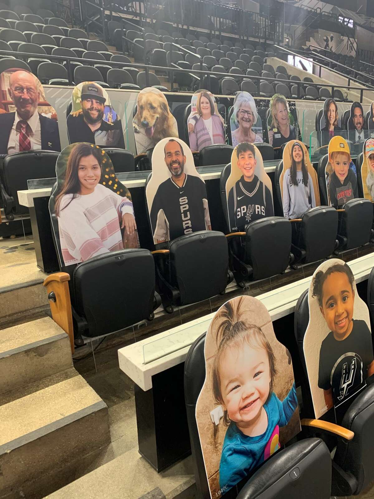 Now even non-season ticket holders can grab a seat in the lower deck. Spurs cutouts are being sold for $50.