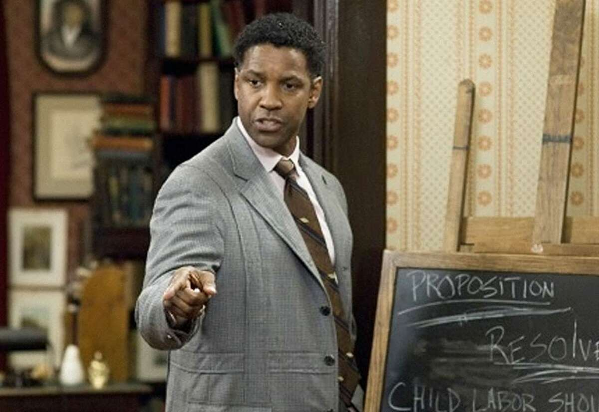 Denzel Washington plays Melvin B. Tolson, the professor who led The Great Debaters.