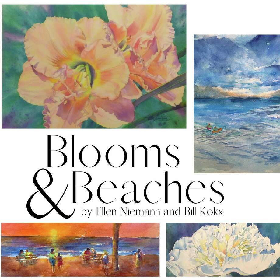 Blooms & Beaches featureswatercolor paintings offloral stylesbyEllen Niemannand landscapesbyBillKokx.The exhibit officially opens with an artist reception from 5-8 p.m. on Friday. (Courtesy image)