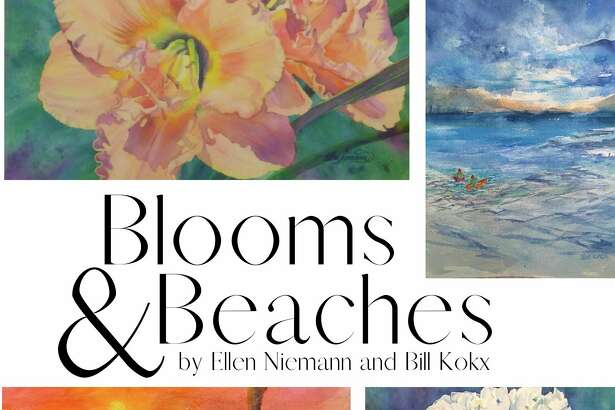Blooms & Beaches features watercolor paintings of floral styles by Ellen Niemann and landscapes by Bill Kokx. The exhibit officially opens with an artist reception from 5-8 p.m. on Friday. (Courtesy image)