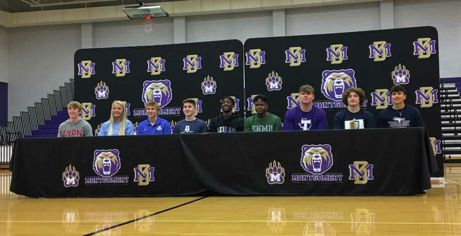 Nine Montgomery High School seniors signed their letters of intent during a National Signing Day ceremony on Wednesday, Feb. 3, 2021 in Montgomery. Photo: Rob Tate