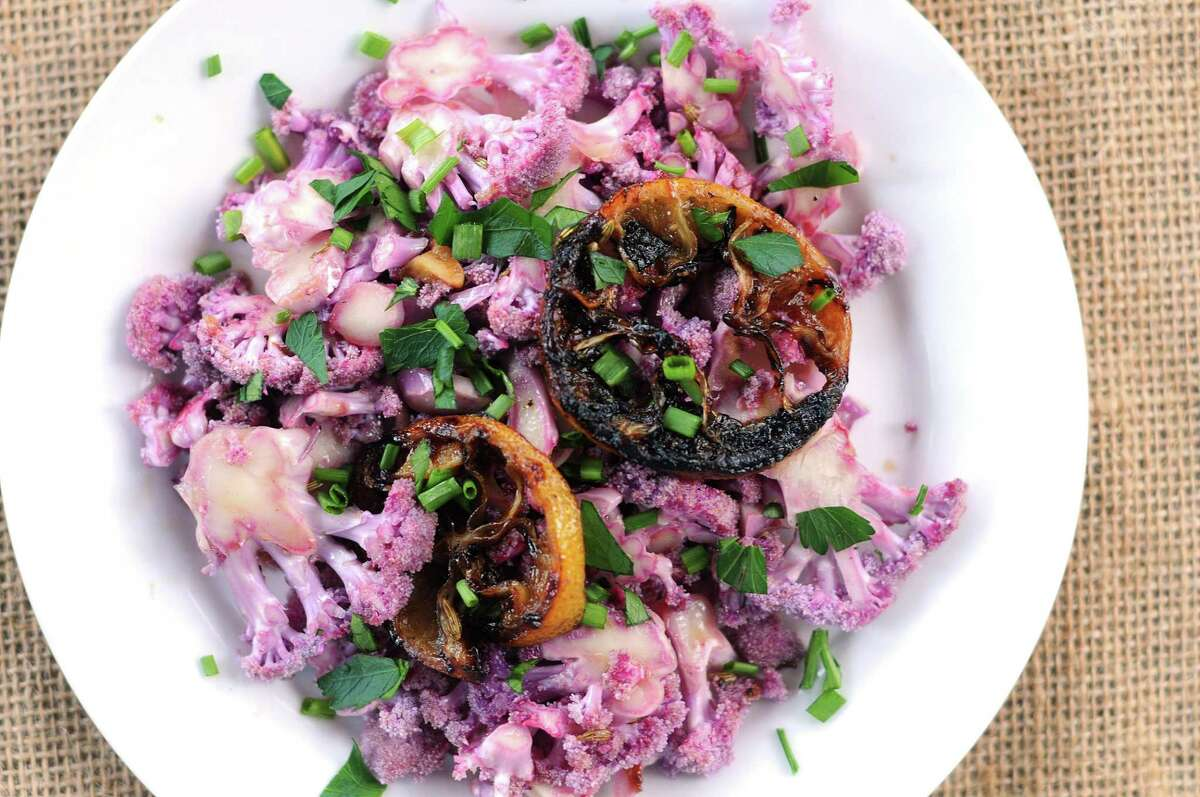Shaved Purple Cauliflower Salad
