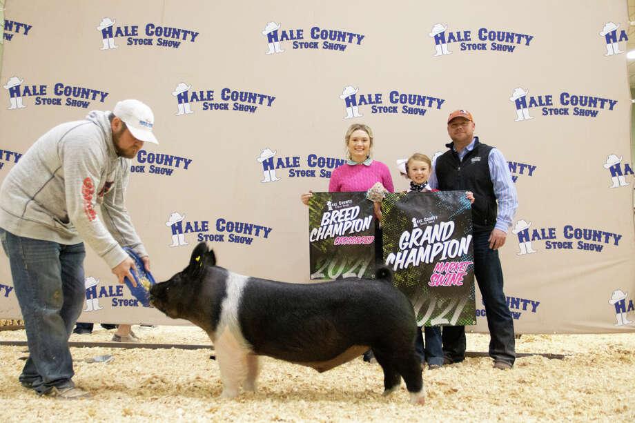 Swine Grand Champ - Bryleigh Beyers Photo: Ashtyn Kincaid/Provided Through The Hale County AgriLife Extension Service