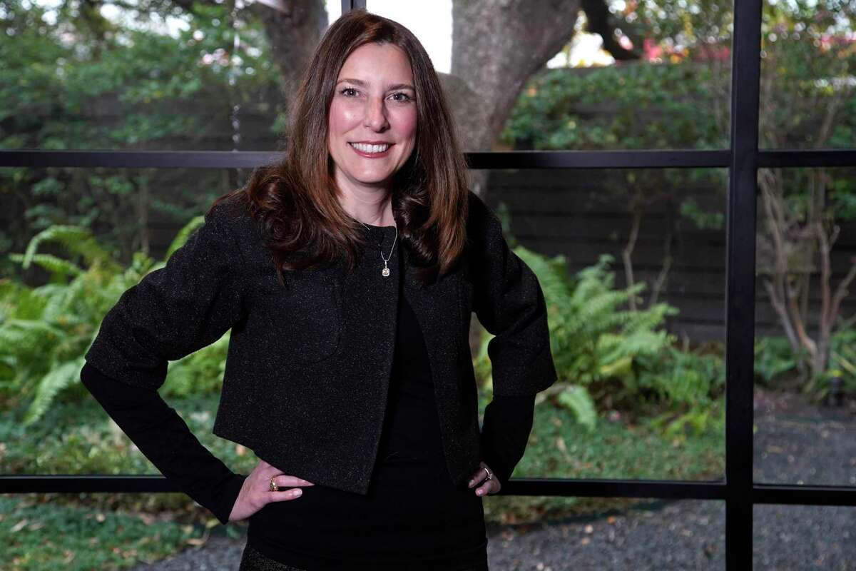 Stephanie Hertzog, CEO of Sodexo Energy, is shown Thursday, Jan. 21, 2021 in Houston.