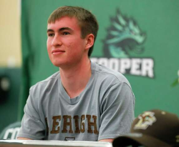 Jack O'Riordan signed to run track for Lehigh University during a National Signing Day ceremony at The John Cooper School, Wednesday, Feb. 3, 2020, in The Woodlands. Photo: Jason Fochtman, Staff Photographer / 2021 © Houston Chronicle