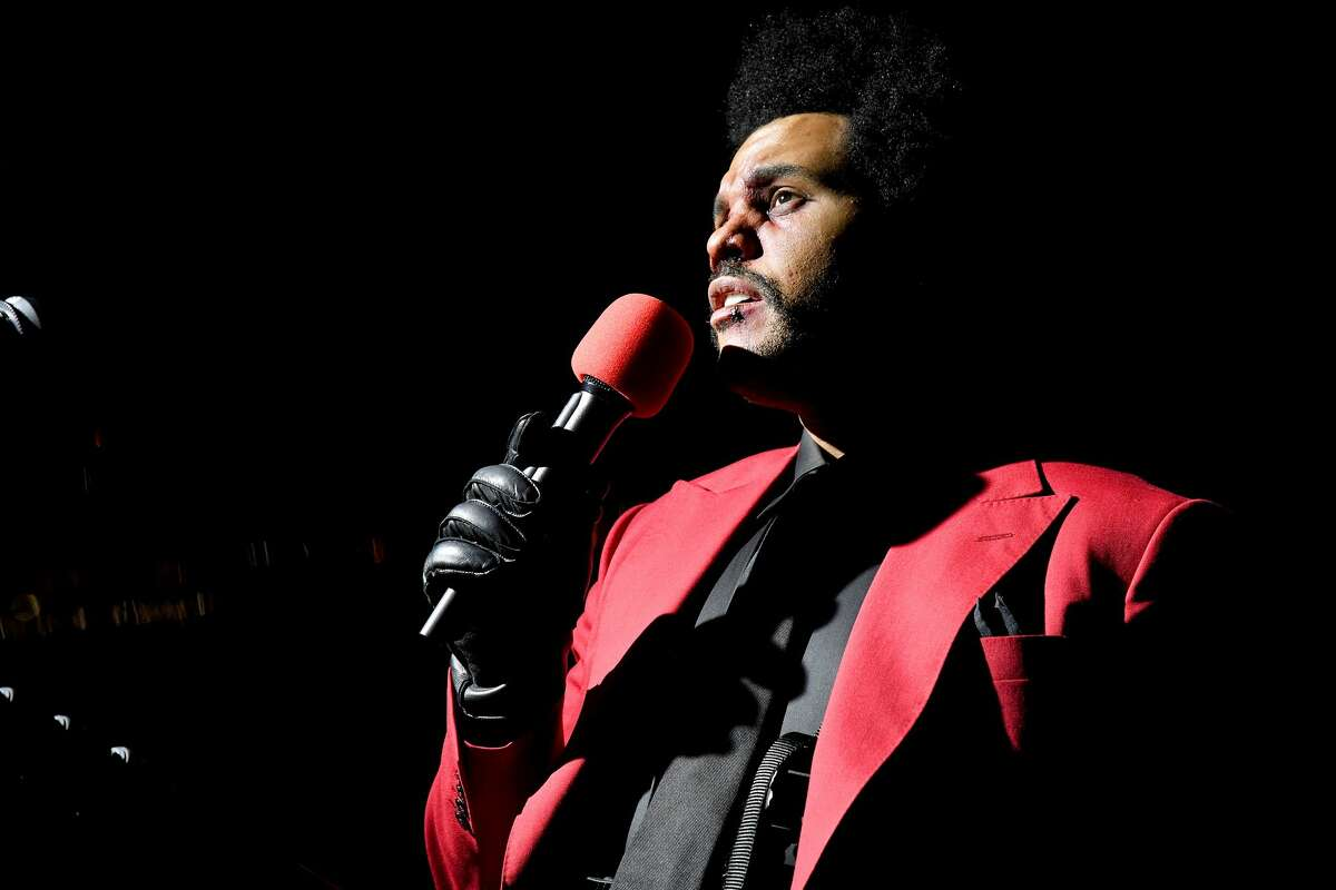 The Weeknd performs at Edge at Hudson Yards for the 2020 MTV Video Music Awards, broadcast on Sunday, Aug. 30, 2020, in New York City.
