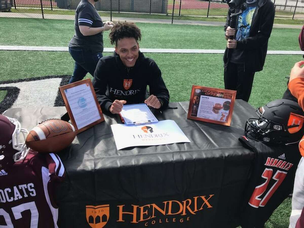 Clear Creek running back Rayfield Conley signed a national football letter of intent Wednesday with Hendrix College.