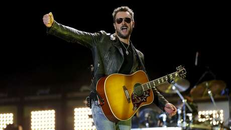 Eric Church makes a headlining performance on the first day during the 10th anniversary of Stagecoach Country Music Festival at the Empire Polo Club in Indio, California, on April 29, 2016. (Allen J. Schaben/Los Angeles Times/TNS)
