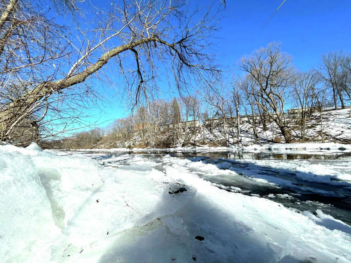Warmer weather and sunny skies helped melt chunks of ice on Wednesday along the Muskegon River in Big Rapids' Hemlock Park.The Pioneer is always looking to featureartwork from local photographers. If you have a photo you'd like to see featured in an upcoming edition of the Pioneer, email it to Editor Bradley Massman at bmassman@hearstnp.com. (Pioneer photo/Bradley Massman)