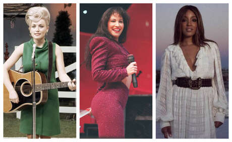 Rodeo alternatives Dolly Parton, left, Selena and Mickey Guyton.