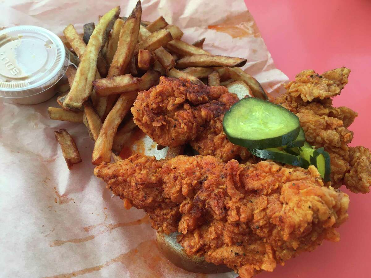 Pete's Chicken Shack features Nashville hot chicken with an assortment of heat levels that includes strips served with fries with varying levels of heat.