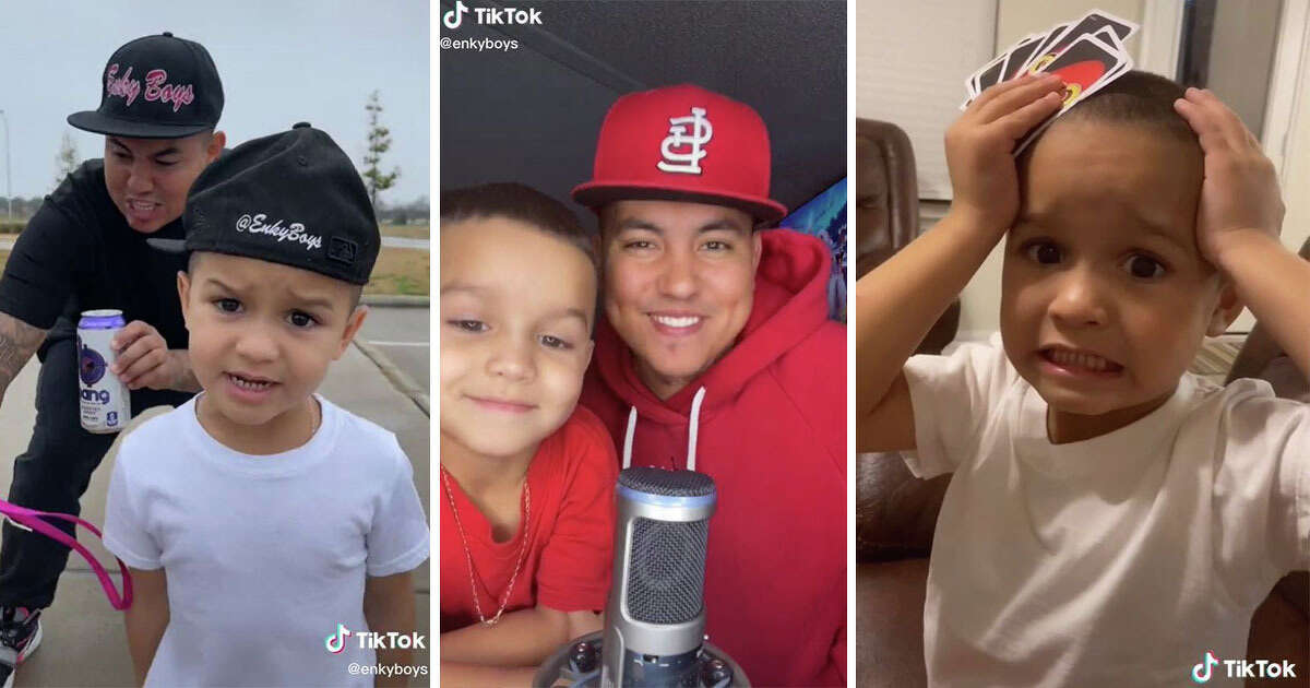 A PANDEMIC SUCCESS  Gonzalez said his oldest daughter Aubree, 10, introduced the family to the video-sharing app. However, Brice said he asked his dad if he they could create TikToks together, and that's when the magic happened.  The two started in November 2019 and really began receiving more followers and views during the coronavirus pandemic. Their first big hit came when the two re-created a scene from 2012 comedy