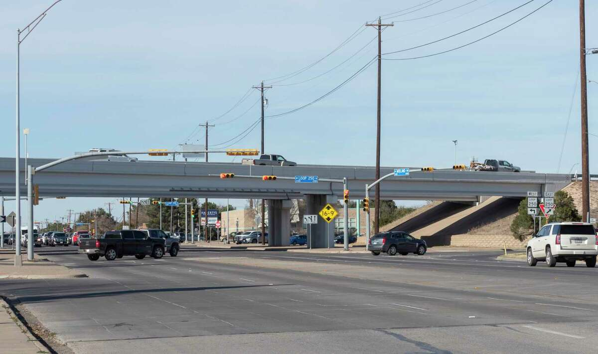The intersection of Loop 250 and Midland Dr. reported 37 crashes in 2020. 02/03/2021 Tim Fischer/Reporter-Telegram