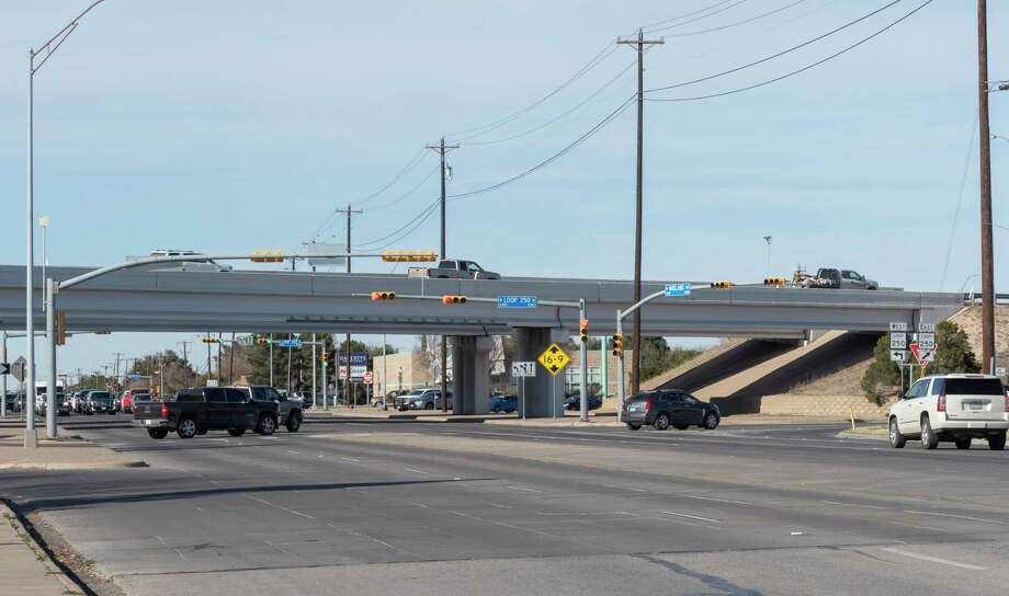 The intersection of Loop 250 and Midland Dr. reported 37 crashes in 2020. 02/03/2021 Tim Fischer/Reporter-Telegram Photo: Tim Fischer, Midland Reporter-Telegram