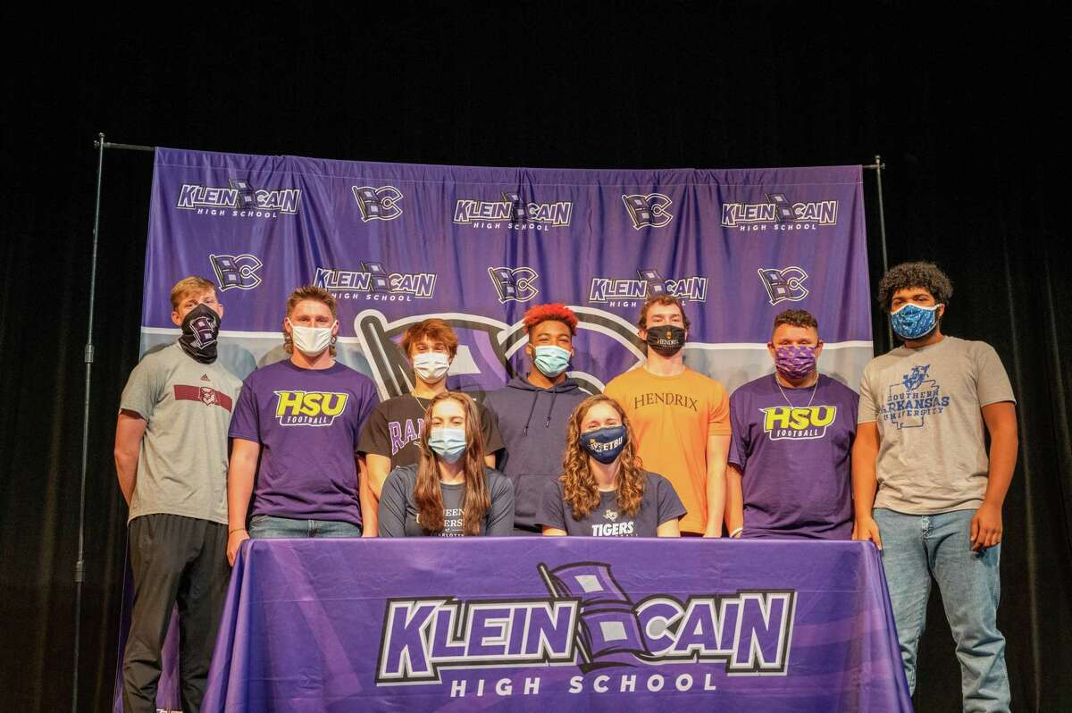 Klein ISD student-athletes from Klein, Klein Collins, Klein Oak, Klein Forest and Klein Cain signed their national letters of intent to play at the collegiate level on National Signing Day, Feb. 3.
