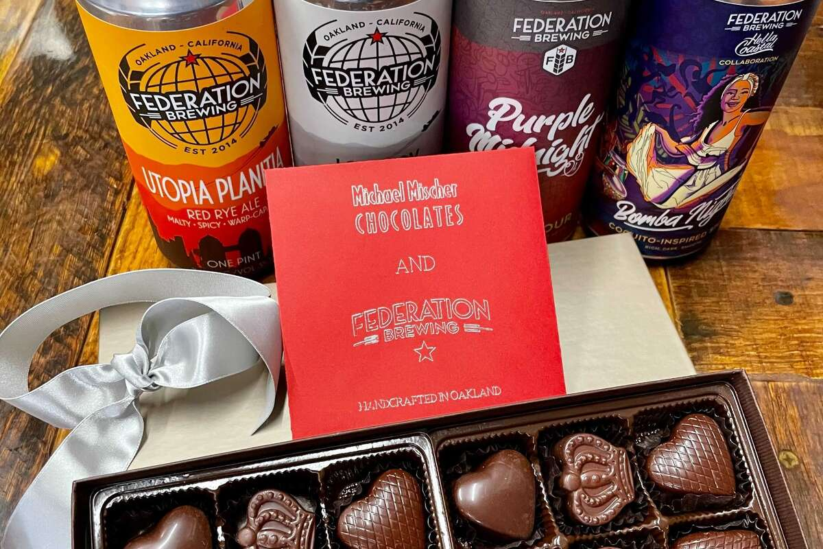 Federation Brewing has a $48 beer and chocolate combo on Valentine's Day.