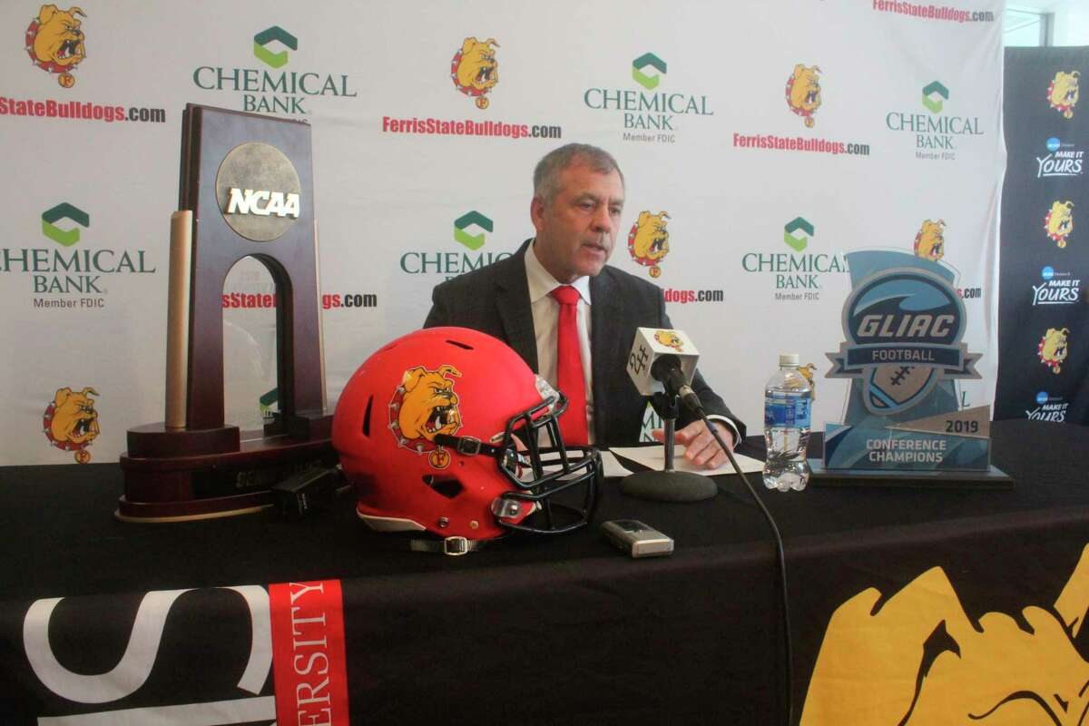 Tony Annese announced the Ferris signing class on Wednesday for 2021 with an online afternoon announcement from the Wheeler Pavilion. The above photo was from 2020 when the media was invited to a live press conference. The press conference this year was virtual. (Pioneer file photo)