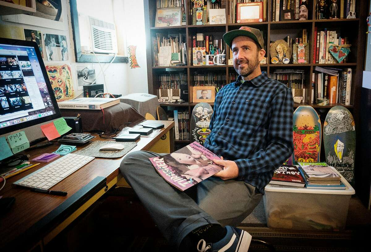 Michael Burnett, editor in chief of Thrasher magazine.