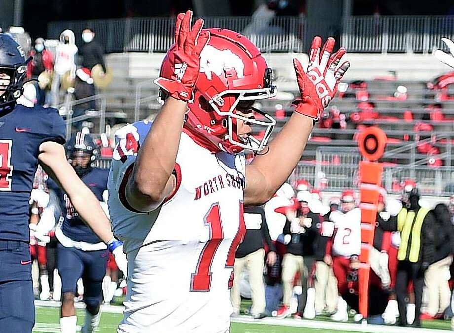 North Shore wide receiver Charles King is among the signees who bring a winning pedigree to Houston Baptist. Photo: Eric Christian Smith / Contributor / Houston Chronicle