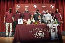 Silsbee senior kicker Diego Carreon-Gonzalez signed his national letter of intent to Kilgore College on Wednesday Feb. 3, 2021 in Silsbee, Texas.