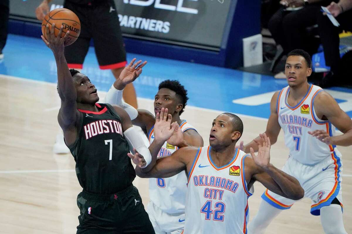 Rockets guard Victor Oladipo, who struggled from distance Wednesday, took responsibility for the loss to the Thunder that ended his team's six-game winning streak.