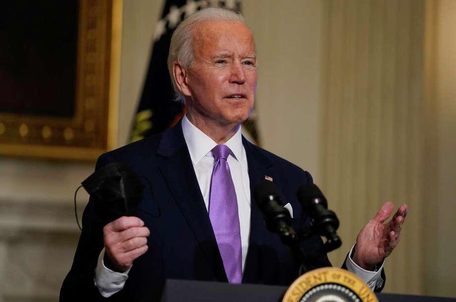 En esta foto del 26 de enero de 2021, el presidente Joe Biden habla sobre COVID-19 en la Casa Blanca, en Washington. Photo: Evan Vucci /Associated Press / Copyright 2021 The Associated Press. All rights reserved