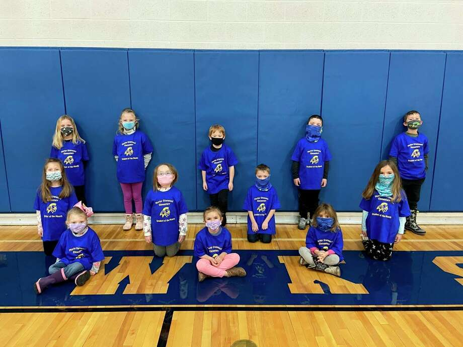 Morley Stanwood Elementary School is recognizing its students of the month for January. Top photo: From left, selected students in early childcare to first grade are (back row) Adeline Kemp, Stella Wing, Seth Nichols, Abraham Grams, Brodi Bulson, (middle row) Emery Walch, Avery Sherburne, Gabe Holdridge, Josie Bohn, (front row) Scarlett Phillips, Jillian Alexander and Hazel Stevens. Not pictured is DeWayne Obert. Middle photo: From left, selected students in second and third grade are (back row) Ava Pantelin, Colbie Babbitt, Hailey Cave, Cecelia Santos, Sam Bohn, Austyn Adams-Watson, (middle row) Elizabeth Tribe, Colt Neal, Lydia Douglas, Whitney Douglas, Zoey Hysell, (front row) Brooke Russ, Hailey Russ and Brodie Ptak. Not pictured is Averee Powell. Bottom photo: From left, selected students in fourth and fifth grade are (back row) Melanie Harkes, Addison Riemersma, Jaxx Garrett, Mayson Painter, (middle row) Laney Bongard, Alek Adair, Charlie Neal, Natalie Gullekson, (front row) Michael Hatchew, Eliana Shattuck and Kyleigh Robinson. Not pictured is Madeline Isabell. (Courtesy photos)