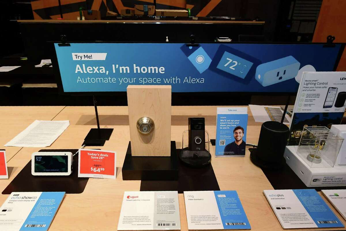 An Alexa display at the Amazon 4-star store at the SoNo Collection mall in Norwalk, Conn. Future Amazon CEO Andy Jassy started his business career in Norwalk with the collectibles company MBI before going on to Harvard Business School and then Amazon.