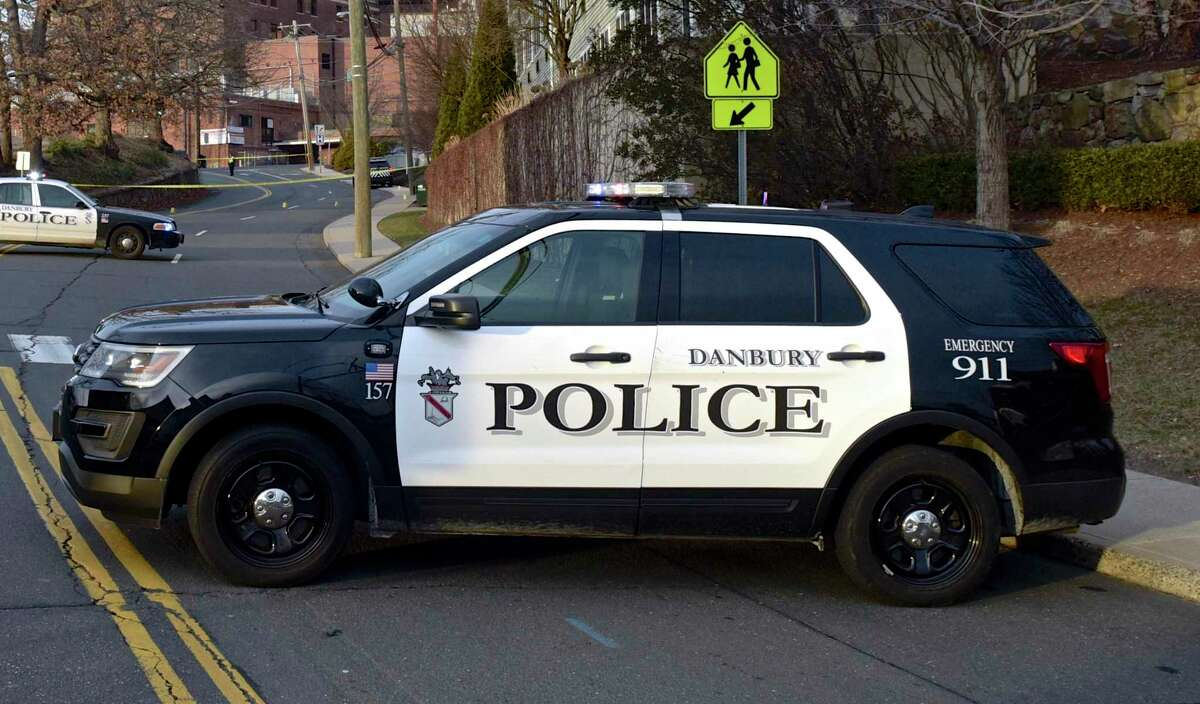 Danbury Police car on Thursday afternoon. January 17, 2019, in Danbury, Conn.