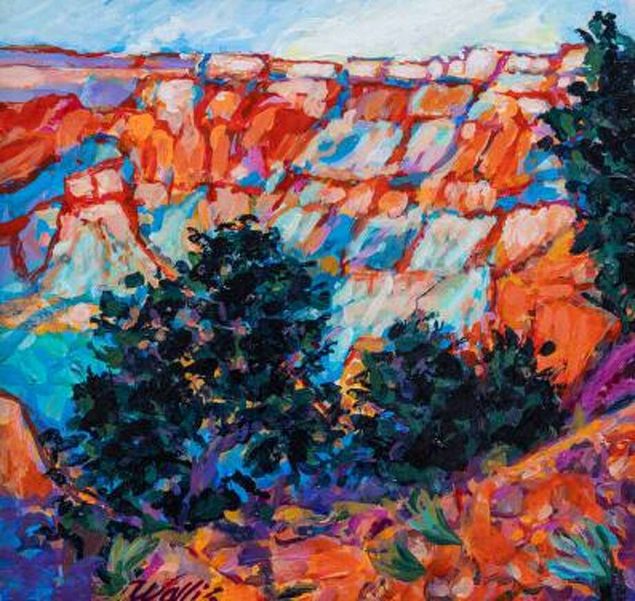 """""""Grand Canyon View"""" is one of 74 original art pieces available for viewing at the CAL gallery, part of the Conroe Art League's online auction. It's by Charles Wallis. Photo: Courtesy Photo"""