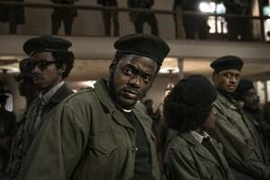 "This image released by Warner Bros. Pictures shows Daniel Kaluuya in a scene from ""Judas and the Black Messiah."" Kaluuya was nominated for a Golden Globe for best supporting actor in a motion picture on Wednesday, Feb. 3, 2021 for his role in the film. (Warner Bros. Pictures via AP)"