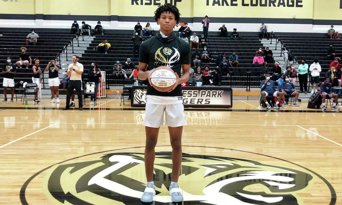 AJ Ferguson, senior at Cy Park, has become the first basketball player ever in the school's history to score his 1,000th career point.