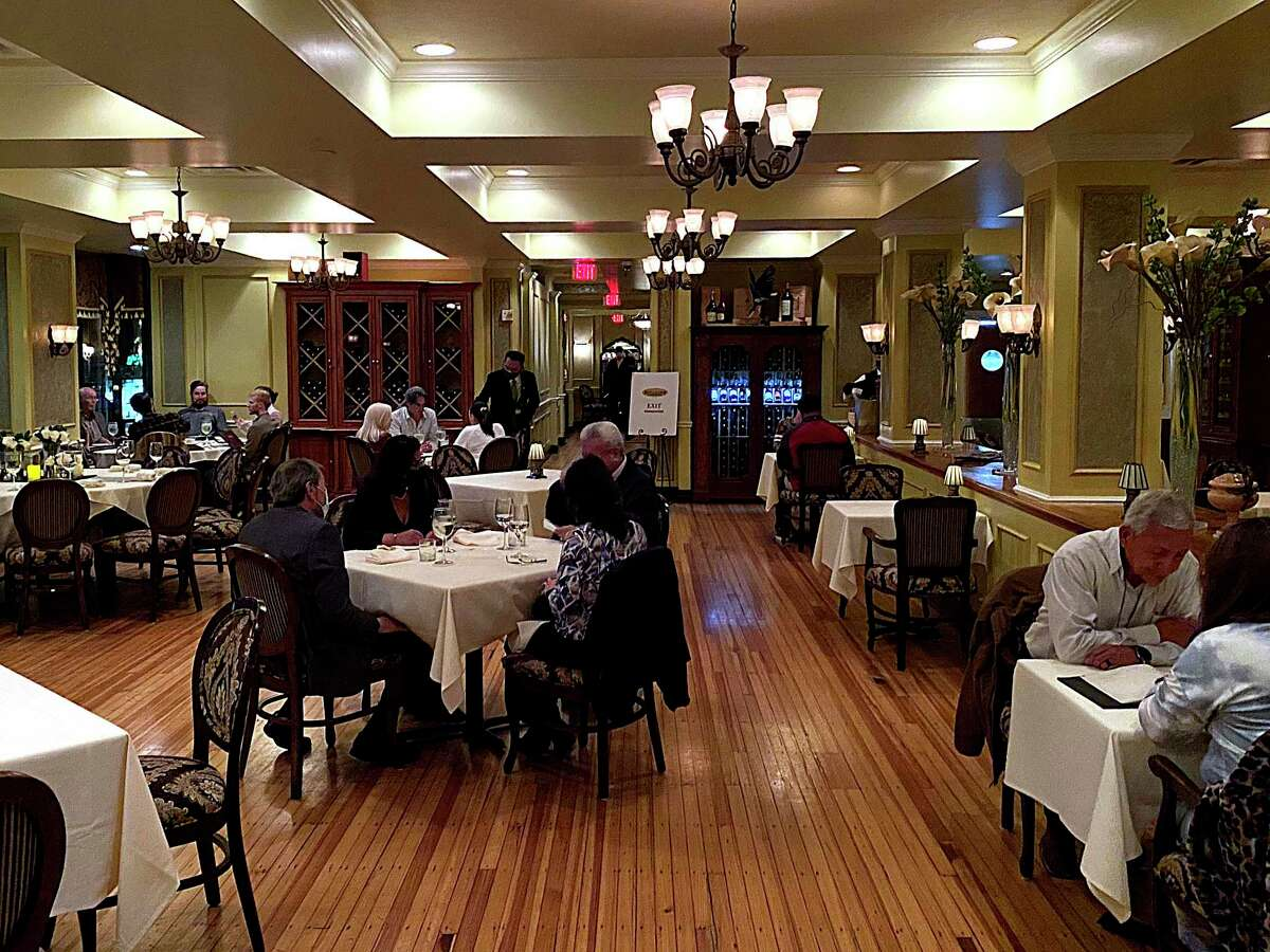 The dining room has a classic, elegant steakhouse feel at Bohanan's Prime Steak and Seafood downtown.