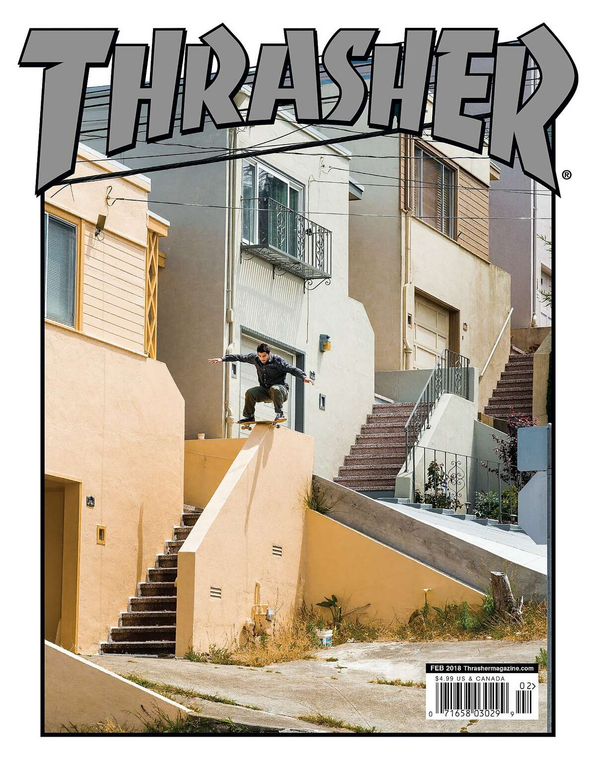 A past cover from Thrasher magazine. The San Francisco based publication turns 40 in 2021.