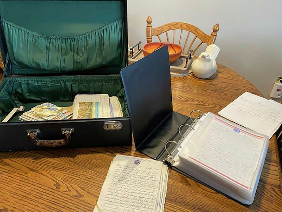 Upon their discovery,Joseph and Helen Brakora's childrenhave organized the letters in chronological order and put them in binders, each letter in a protective sleeve.(Courtesy photo/Cathy Johnson)