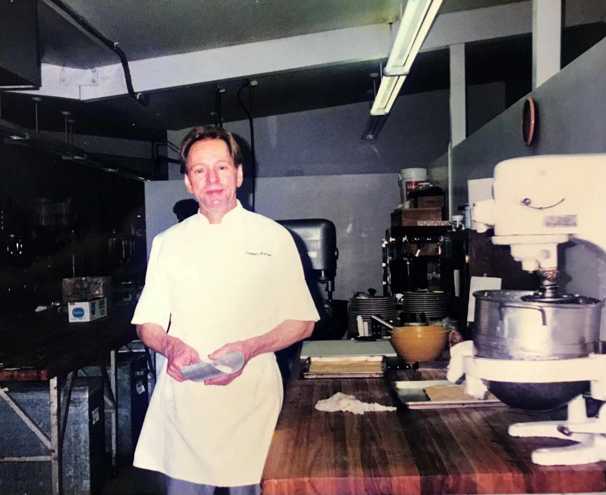 Bertram Wentzek in the kitchen.