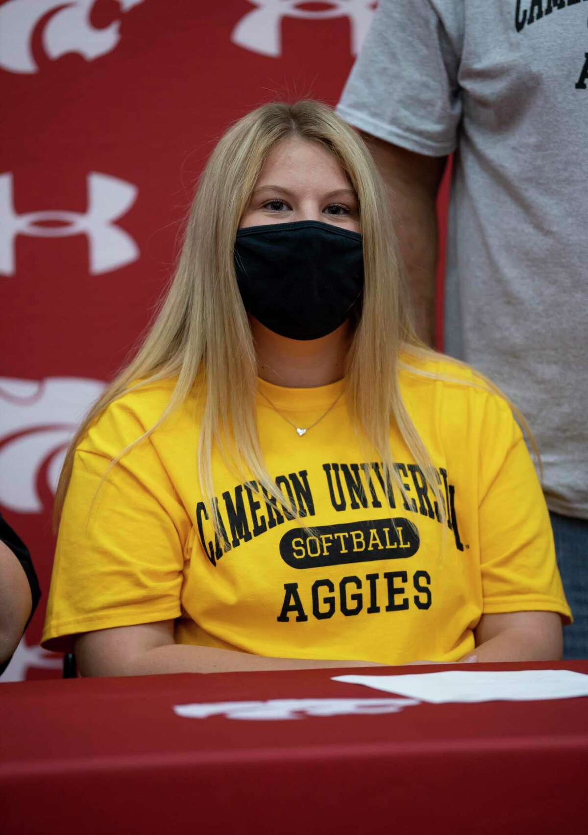 Brooklyn Atkins signs with Cameron University for National Signing Day at Splendora High School, Wednesday, Nov. 11, 2020, in Splendora.