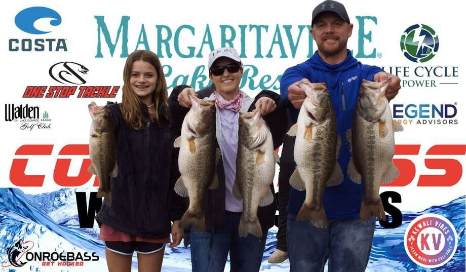 Jason and Christi Slot won the CONROEBASS Weekend Series Tournament with a total weight of 26.23 pounds. Photo: CONROEBASS