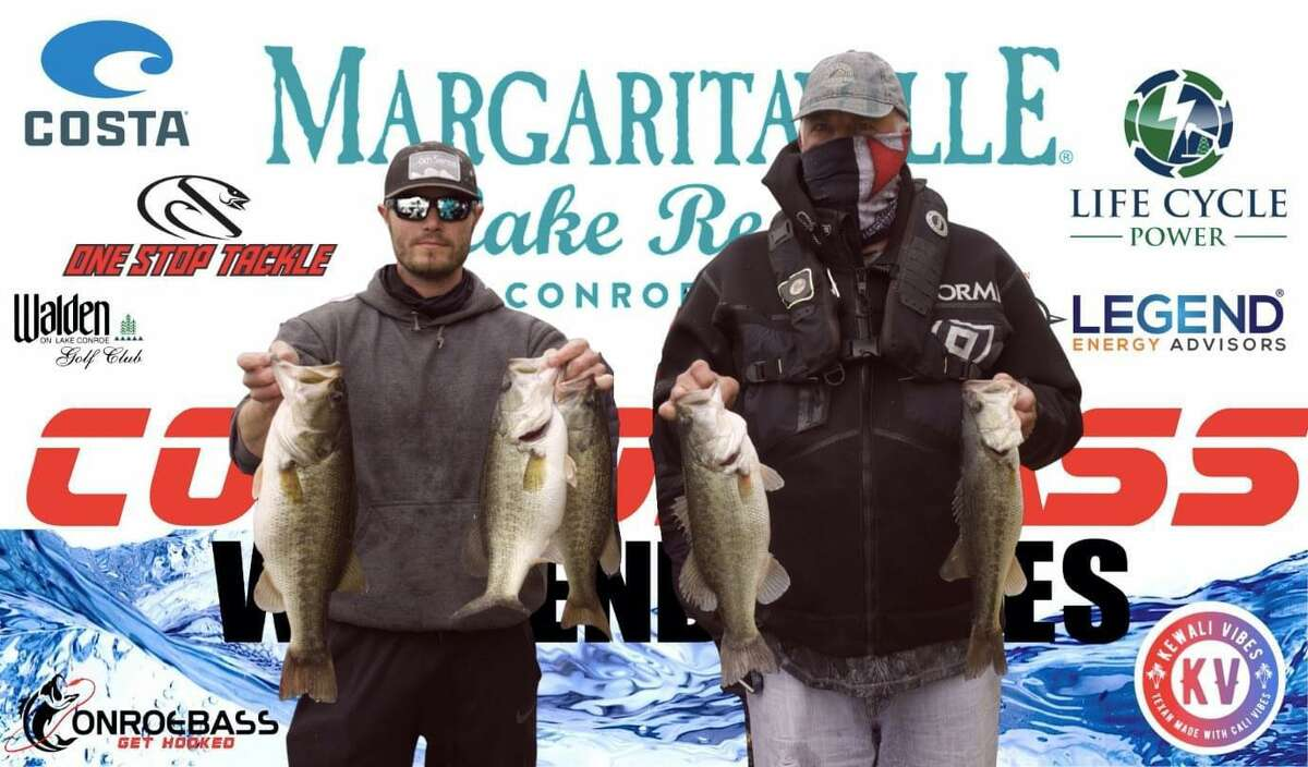 Bruce and Zane Baggett claimed second place in the CONROEBASS Weekend Series Tournament with a total weight of 19.28 pounds.